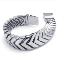 Width 18mm New Arrival Men 316L Stainless Steel Wide Cuff Bracelet For Boy Friend Gift