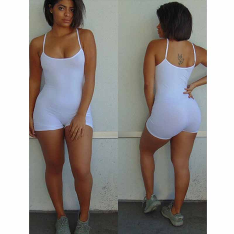 Casual Summer Bodycon Rompers Womens Jumpsuit 2019 Summer Playsuit Sexy Slim Body Skinny Rompers Shorts Spaghetti Strap Leotard (4)