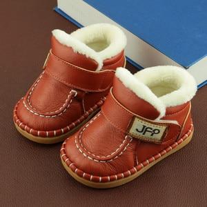 Image 2 - הכי חדש בני תינוק מגפי שלג חם חורף קטיפה עור אמיתי עבור תינוקות מכירה