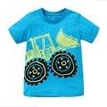 Camisetas para Meninos de varejo Puro T-shirt do Miúdo Roupa Infantil Do Bebê T camisa Criança Roupas de Verão Dos Desenhos Animados Meninos Top Camisas Do Bebê T AB5079