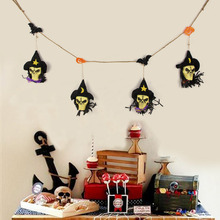 Fun Diablo Series Ghost Skull Pendant Black Fabric Garland Halloween  Decorations Wall Hanging Skulls Home Decor