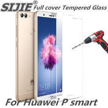 full cover Tempered Glass for huawei P smart Psmart enjoy 7S 5.65 inch Screen Protective display case frame all edge black 9H on