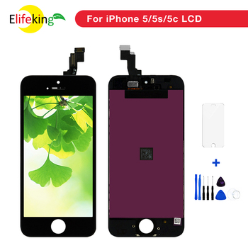 100PCS/Lot Pantalla LCD Display for iPhone 5 5s 5c LCD Display Touch Screen Digitizer Assembly No Dead Pixels 100% tesed