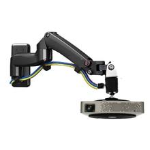 NB-F150PR 2-7 кг двойной газовый пружинный кронштейн для проектора Настенный кронштейн с полным движением вращающийся на 360 градусов Алюминиевый 1/4 дюймовый винт