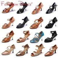 High Quality Women's Satin Upper Latin Dance Shoes Ballroom Tango Dancing Shoe Rhinestones Sandals Free Shipping