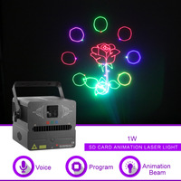 Sharelife 500mw 1W RGB Animation DMX SD Card Laser Projector Light for Home Gig Party DJ Show Stage Lighting Sound Auto FB SD