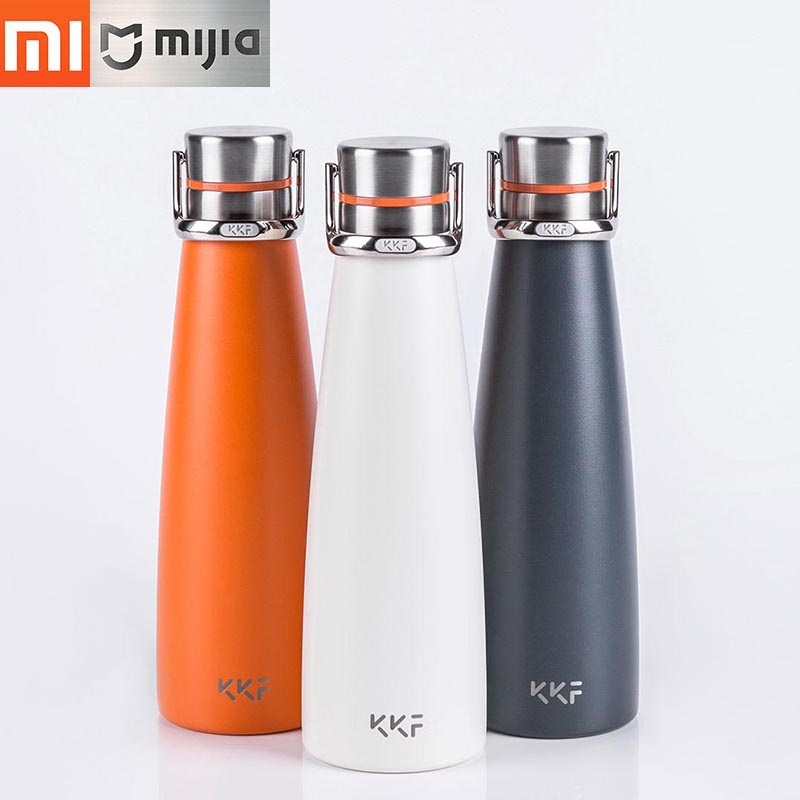 Newest Xiaomi KKF Vacuum Bottle 24h Insulation Thermoses Stainless Steel Thermos Flask Travel Mug 475ml Portable Insulation Cup цена и фото