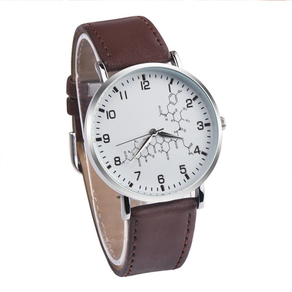 Exquisite Fashion Women Bride Jewelry Accessories Chemical Formula Pattern PU Leather Couple watch for Women Birthday Gift exquisite fashion women bride jewelry accessories chemical formula pattern pu leather couple watch for women birthday gift