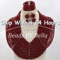 Moda de Boda Nigeriano Beads Africanos Joyería Conjunto de Boda Nigeriano Beads Africanos Joyería Conjunto Cristal ABJ326 Shipiing Libre