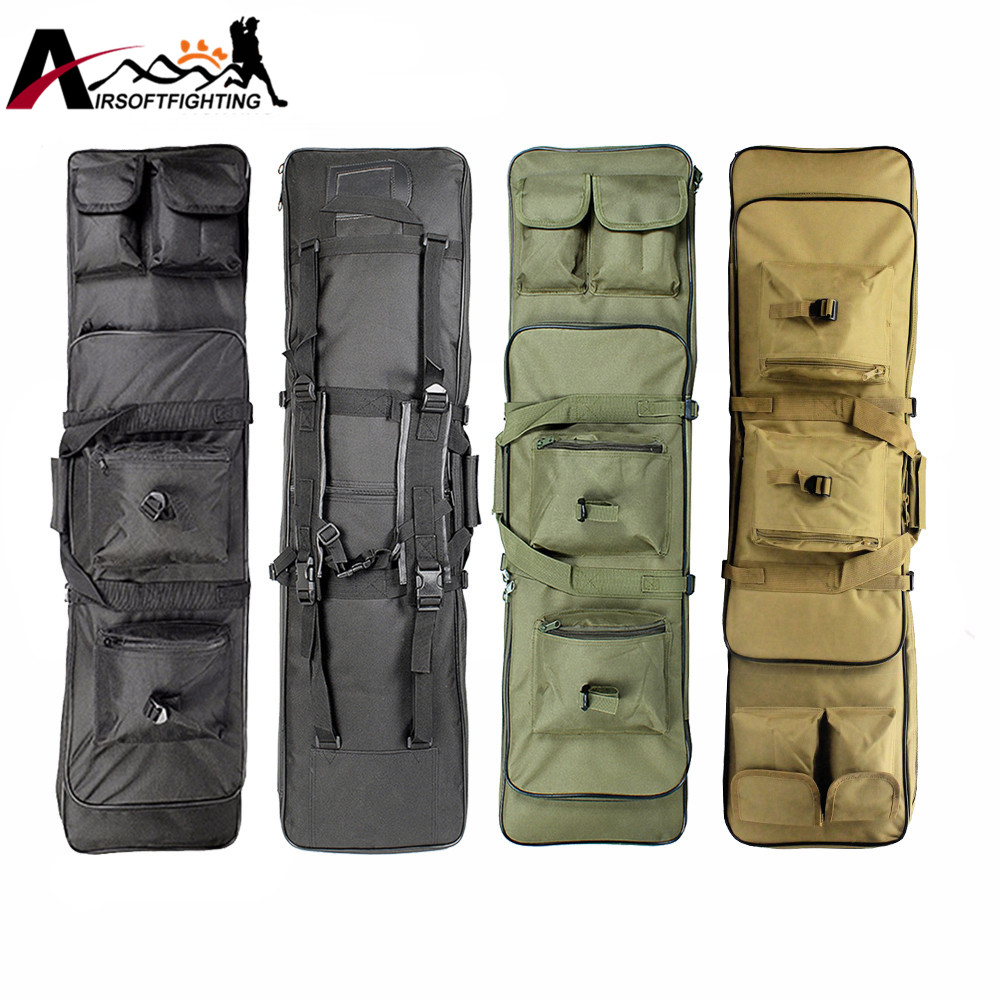 85cm 100cm 120cm Tactical Hunting Backpack Dual Rifle Square Carry Bag with Shoulder Strap Gun Protection Case Backpack 47 folding fishing rod bag tactical duel rifle gun carry bag with shoulder strap outdoor fishing hunting gear accessory bag