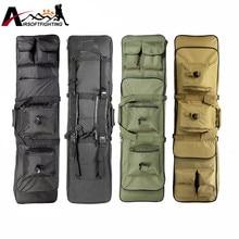 85 cm 100 cm 120 cm tactique chasse sac à dos double fusil carrée sac de transport avec bandoulière sac de protection pistolet sac à dos