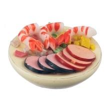 New 1 12 Seafood Salad On A Plate font b Dolls b font House Miniature Food