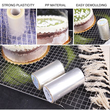 8cm/10cm Transparent Clear Mousse Surrounding Edge Wrapping Tape Baking Cake Dessert Collar DIY Cake Decorating Tools(China)