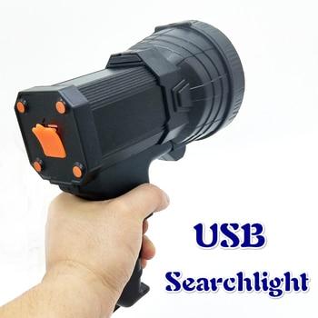 Portable Lighting usb Portable lantern powerful led searchlight 500 meters for patrol Hunting  lanterns  portable light