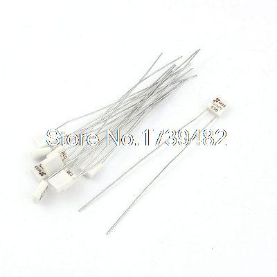 10 Pcs M33 <font><b>130</b></font> Celsius Degree Motor Temperature Thermal <font><b>Fuse</b></font> <font><b>250V</b></font> <font><b>2A</b></font> image
