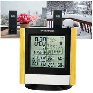 Image 5 - محطة الطقس 3 أجهزة الاستشعار اللاسلكية ، WWVB DCF ساعة للتحكم في الراديو ميزان الحرارة ، في الأماكن المغلقة في الهواء الطلق الرطوبة توقعات درجة الحرارة