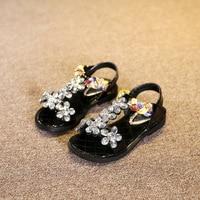 2016 Summer Girls Rhinestone Sandals Children S Shoes Kids High Heeled Sandals Girls Princess Casual Shoes