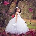 White Pearl Couture Цветочница Туту Платье Крещение Платья Вечерние Платье Подросток Девушки Туту Платья Настроить размер PT136