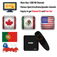 Best Latino IPTV M8S PROW tv box 1 year M3U IPTV Subscription IPTV Chile Mexico USA Canada Spain Portuguese Brazil Smart tv box