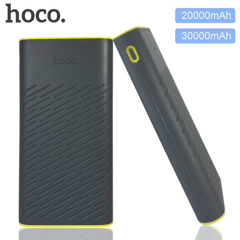 HOCO B31 30000mAh 20000mAh Power Bank Dual USB 2 1A Charger External Battery Pack For IPhone