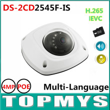 HIK IP camera DS 2CD2545F IS POE 4MP CMOS Mini CCTV Network Dome Camera IR 10M