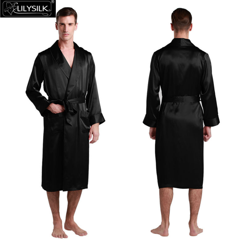 1000-black-22-momme-lapel-collar-long-silk-dressing-gown