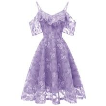 Sexy Short Evening Dress Lace  A-line Party gown Formal formal dress off shoulder Sling evening abiye gece elbisesi
