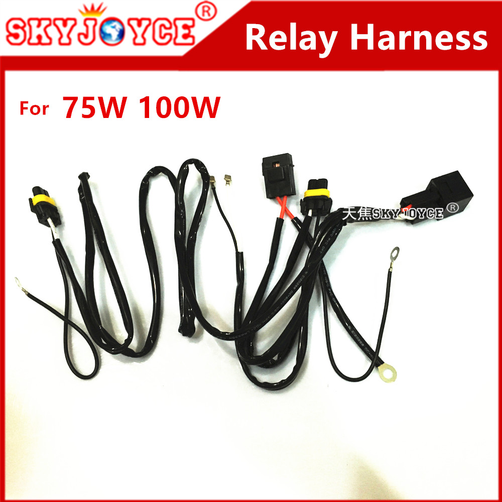 Dc12v 40a Hid Xenon Kit H7 75w Relay Harness H1 H11 D2h 12v Led Fog Light Lamp Load Resistor Wiring Warning Canceller 100w Power Cable Control Wire Motorcycle