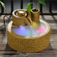 Ceramic rockery water fountain humidifier tank atomizer home furnishing home decoration mountain stream device