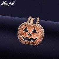 MISSFOX Hip Hop Nightmare Before Christmas Ripe Pumpkin Women Men Terror Ghost Halloween Men's Pendant
