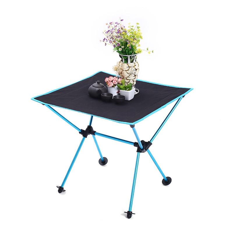 Ergonomic Foldable Table Folding Camping Desk Portable Outdoor 7075 Al Alloy Ultralight Tables 600 D Oxford Anti-slip Furniture