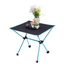 Ergonomic Foldable Table Folding Camping Desk Portable Outdoor 7075 Al Alloy Ultralight Tables 600 D Oxford Anti slip Furniture
