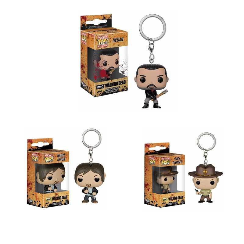 POP Chaveiro Oficial Personagens de The Walking Dead Action Figure Collectible Modelo Brinquedos de Natal