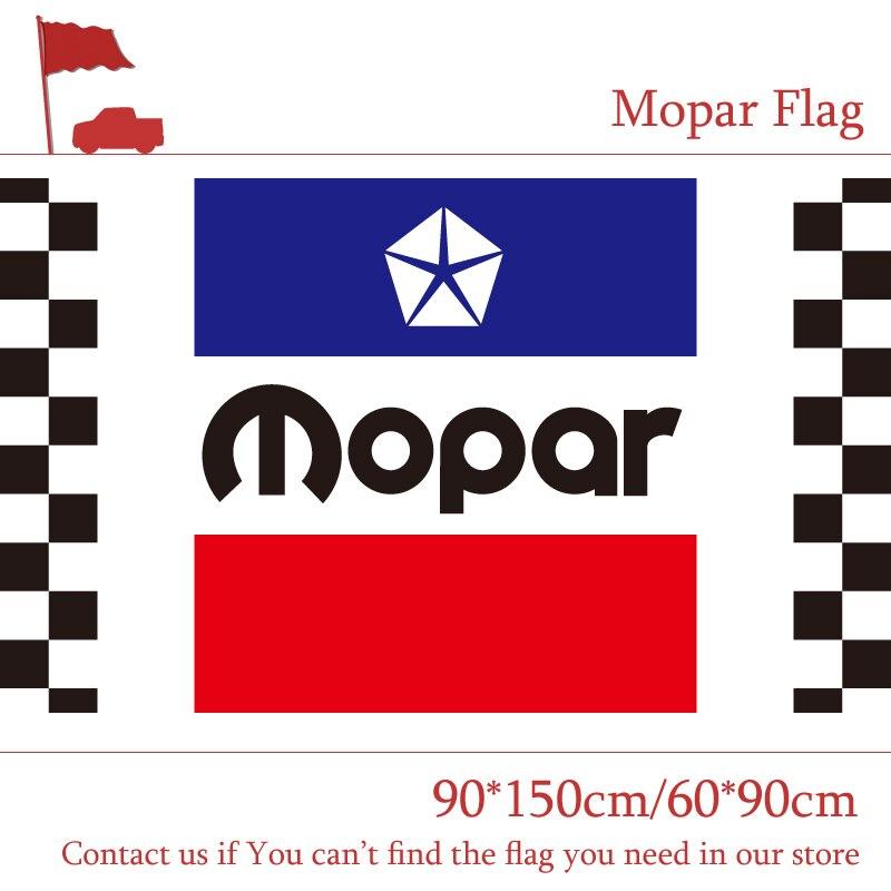 90*150 CM 60*90 CM 3x5ft Mopar À Damiers Racing Automobile Drapeaux Polyester Impression Numérique Bannière