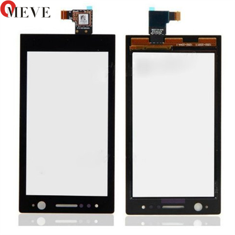 10PCS/LOT 3.5''For <font><b>Sony</b></font> Ericsson Xperia U <font><b>ST25</b></font> ST25i ST25a Front Touch Screen Digitizer Touch Panel Sensor Glass Flex Cable Lens image