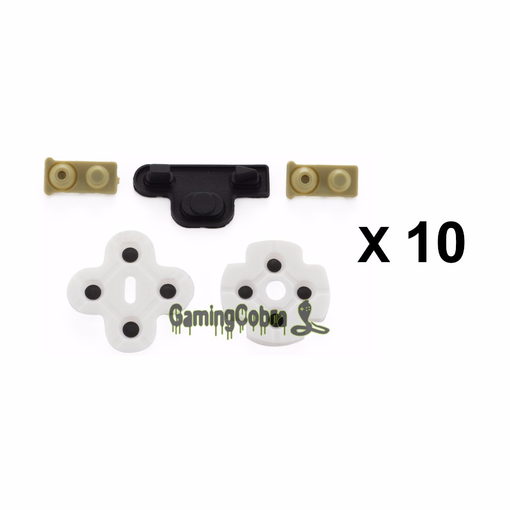 10 Set Replacement Kits Rubber Conductive Button Pad For PS3 Wireless Controller conductive silicone rubber controller rubber for ps3 wireless controller 200sets lot