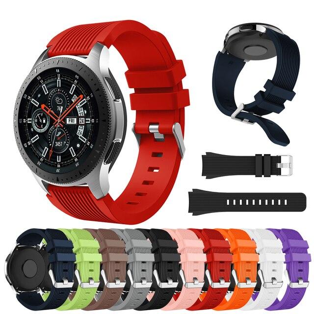 Силиконовый ремешок на мм запястье для samsung Galaxy Watch 46 мм SM-R800  Galaxy 321fdd8aa6459