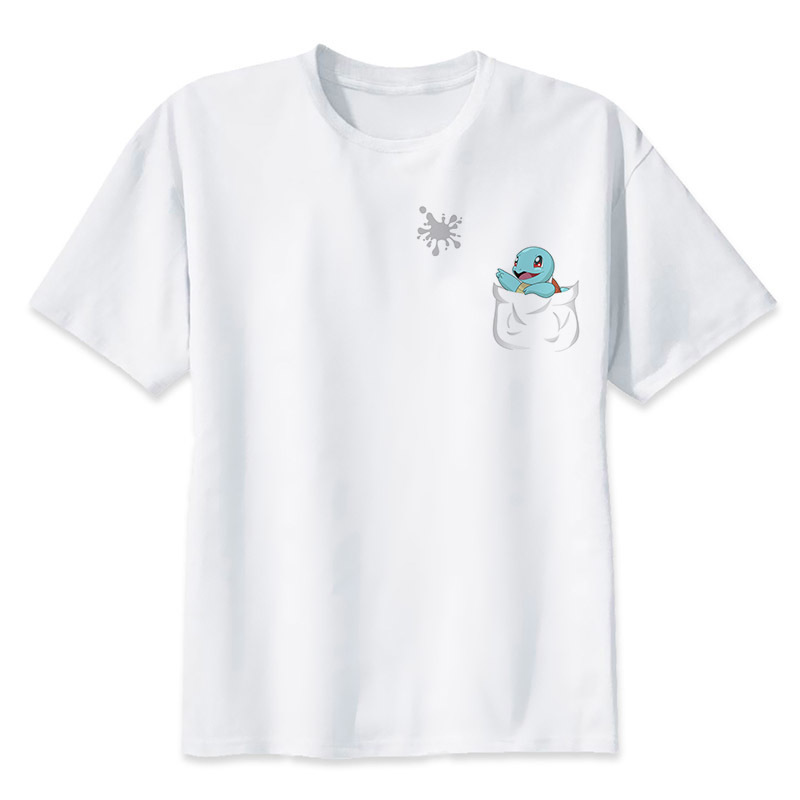 2017 New Fashion Summer Cartoon Pokemon GO Pikachu T Shirts Men Short Sleeve Anime Mens Clothing casual Top Tees S-3XL