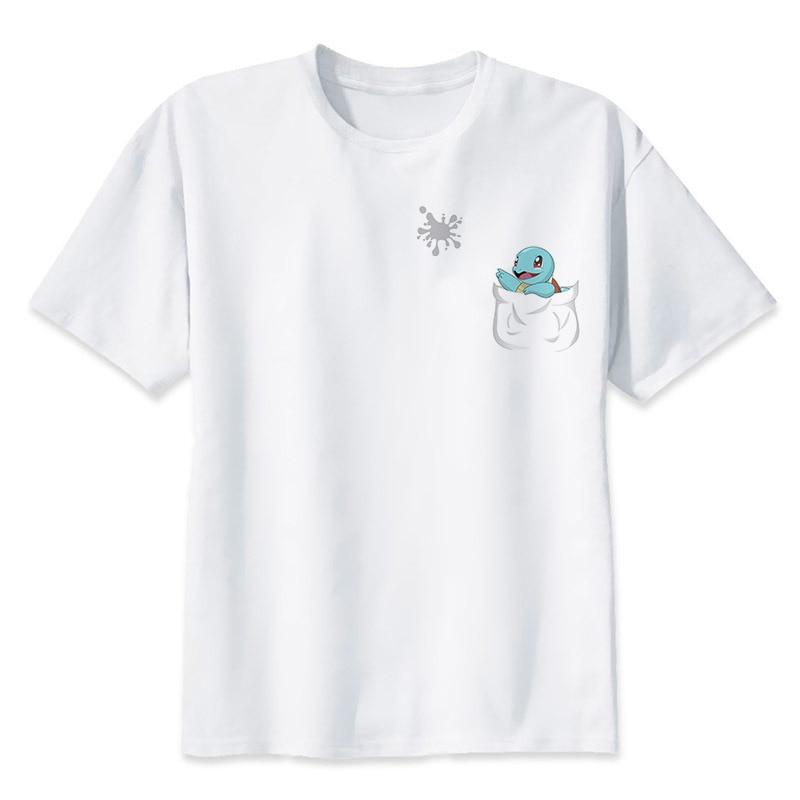 2017 neue Mode Sommer Cartoon Pokemon GEHEN Pikachu T Shirts Männer Kurzarm Anime Herren Kleidung lässige Top Tees S-3XL