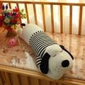 stuffed animal 120cm black stripes cloth lying sleeping dog plush toy soft throw pillow w2304
