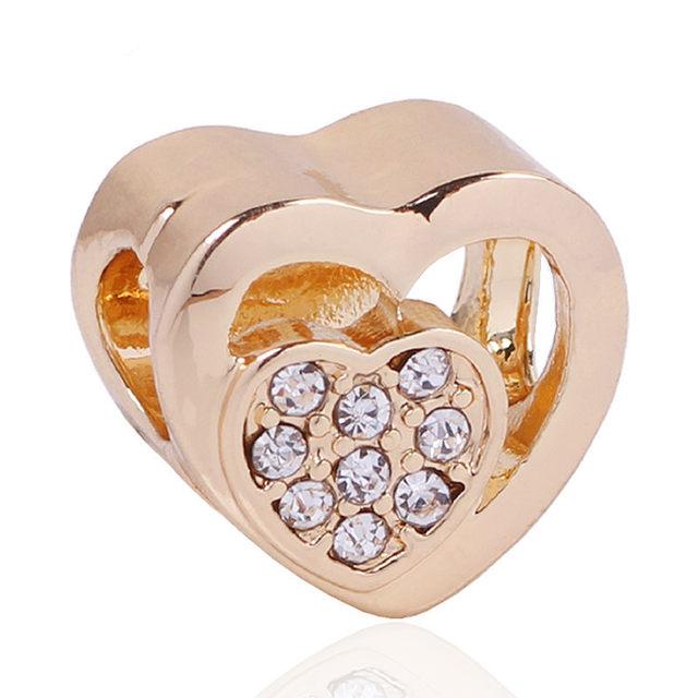 Online Shop High Quality Silver Love Hearts Symbol European Charm