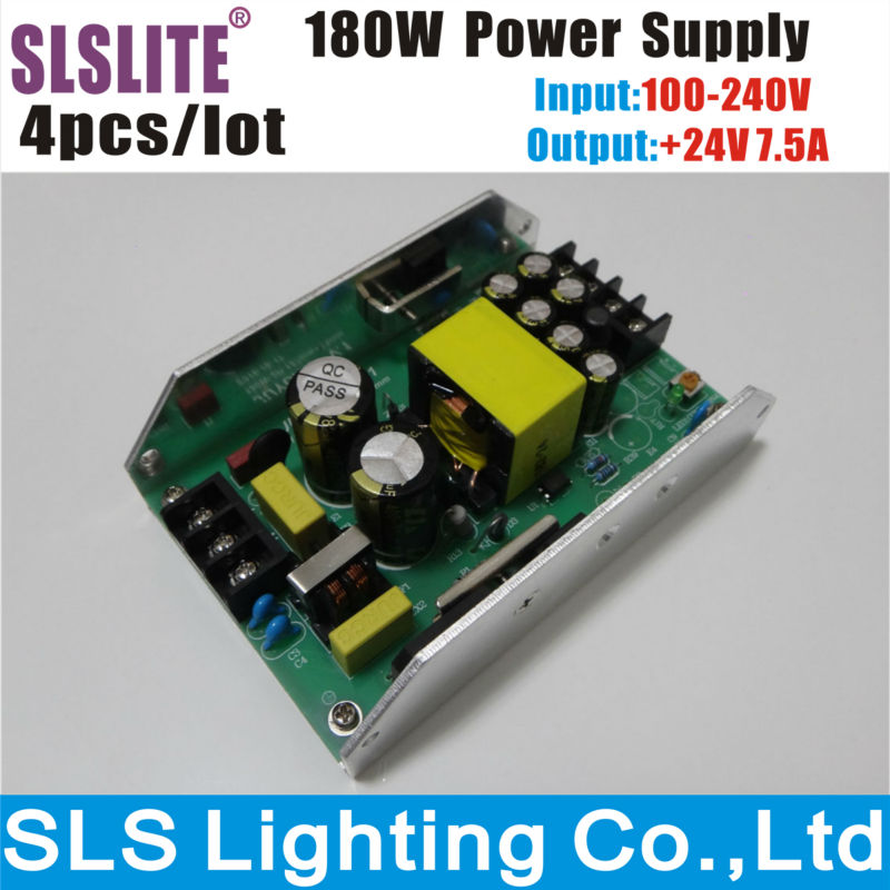 4pcs/lot 24V 180W <font><b>Led</b></font> <font><b>Par</b></font> Light Power Supply for 54PCS 3W RGBW <font><b>Par</b></font> <font><b>Led</b></font> Stage Disco DJ Party Stage Lighting Accessories & <font><b>Parts</b></font> image