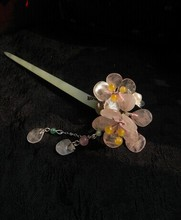 Soapstone Apricot Flower Fang Ying Ye Classical Hair Stick Vintage Jewelry Hanfu Costume Hair Accessory