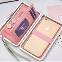 Colorful Women Wallet Phone Bag Leather Case For IPhone 7 6 6s Plus 5s Samsung Galaxy