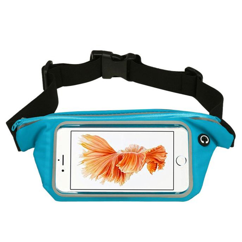 Outdoor Sports Running Waist Bag Utility Gym Fanny Pack Fitness Jogging Belt Bags 5.5 inch Cell Phone Pocket for Men Women #2a (24)