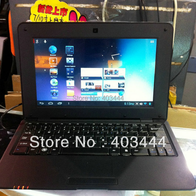 10 Inch Laptop VIA8850 1.5Ghz Android 4.1 Notebook PC 512MB RAM 4GB ROM Netbook Webcam WiFi HDMI Free Shipping