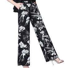 Bohemian High Waist Floral Print Loose Long Pants Women 2019 Summer Fashion Pockets Trousers Ladies Casual Wide Leg Pants