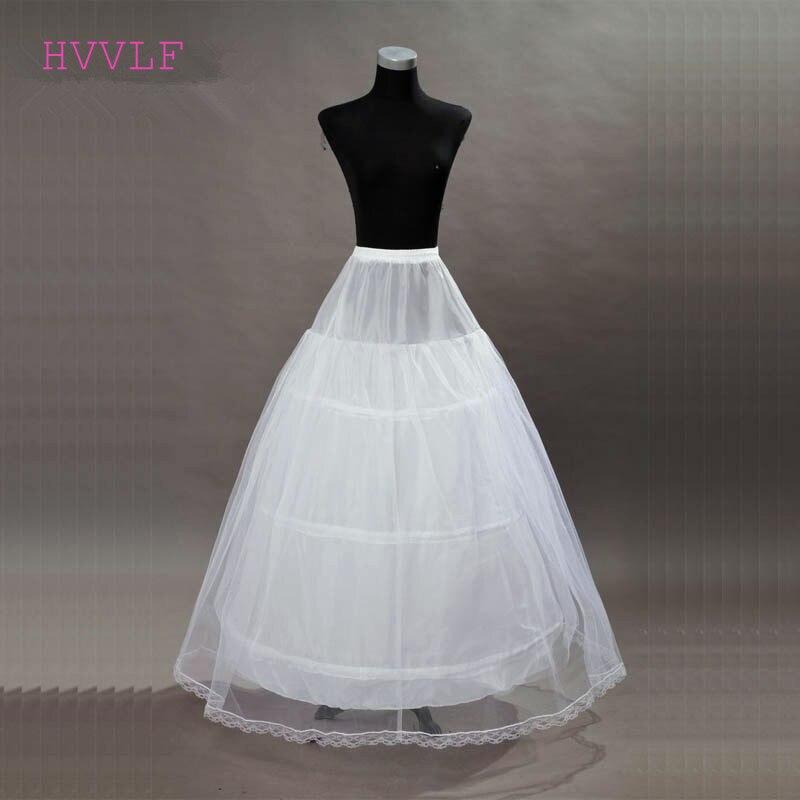 New 3 Hoops Ball Gowns Wedding Petticoat Wedding Accessories Bride Crinoline Underskirt Velos De Novia Voile De Mariee 2019