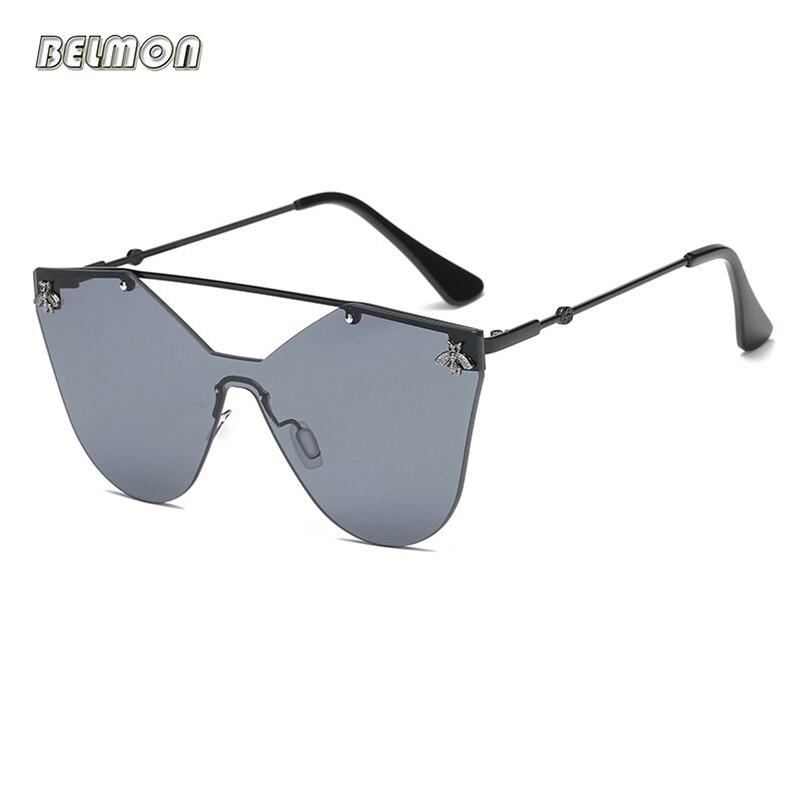 Moda gafas de sol mujer hombres marca de lujo diseñador Bee gafas de sol para mujer hombre Oversized Gafa Oculos de sol RS584