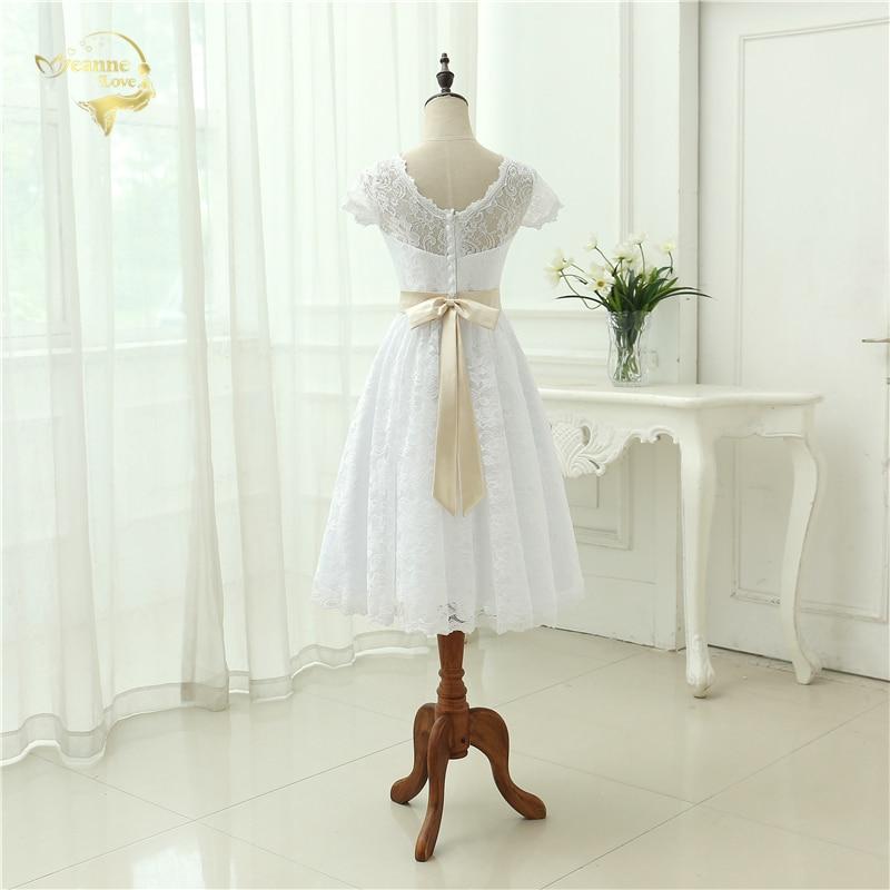 Klassisk Se genom Vestido De Noiva En Linjeklänning De Mariage Te - Bröllopsklänningar - Foto 2